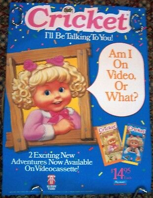 Talking Cricket Doll Playmates Vintage Original Video Store Poster Excellent  Cr