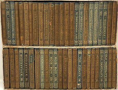 Lot of 48 Antique Novels by Sir Walter Scott 1898 Scribners Sons