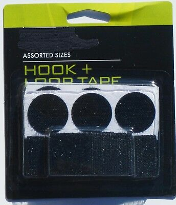 Hook and Loop Tape Assorted Sizes and Shapes  QTY 12 Variety Packets