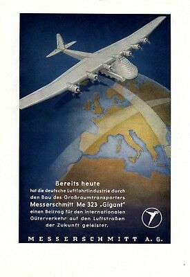 Aircraft Messerschmitt Me 323 Giant XL 1944 ad Germany WW 2 German airforce
