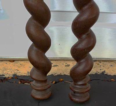"""Antique Architectural Furniture TWISTED POSTS - COLUMNS    64.5"""" TALL -  PROJECT"""