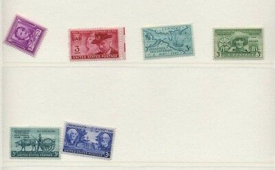 US 1949 Commemorative Year Set - Complete, MNH - 6 Stamps Scott 981-86 USA