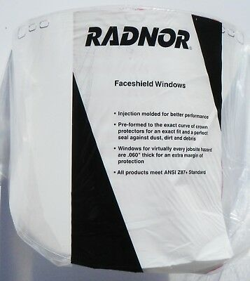Radnor Faceshield Windows RAD64051730 Propionate Clear QTY 4
