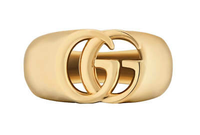 f26ef91a2 GUCCI GG RUNNING 18k Yellow Gold Stacking Ring YBC457122002013 ...