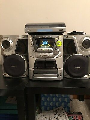 Panasonic SA-AK44 HIFI System + Bush MTT1 Mini Turntable - CD / Cassette/ Radio