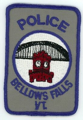 Bellows Falls Police Vermont Vt Patch Sheriff Colorful Style 1