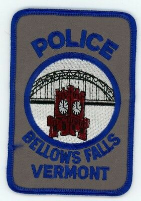 Bellows Falls Police Vermont Vt Patch Sheriff Colorful Style 2