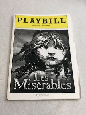 """Playbill Broadway NYC October 2014 """"Les Miserables"""""""