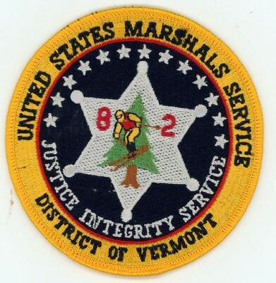 United States Marshal District Of Vermont Vt Patch Sheriff Police Colorful