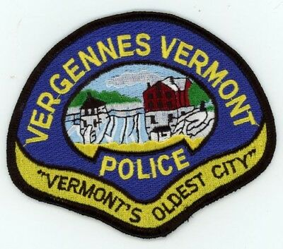Vergennes Vermont Vt Police Patch Sheriff Colorful