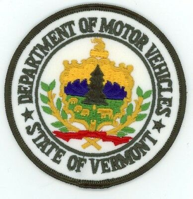Vermont Department Of Motor Vehicles Vt Police Patch Sheriff Police Colorful