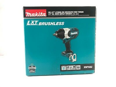 NEW Makita XWT08Z 18V High Torque 1/2-Inch Sq. Drive Impact Driver (Tool Only)