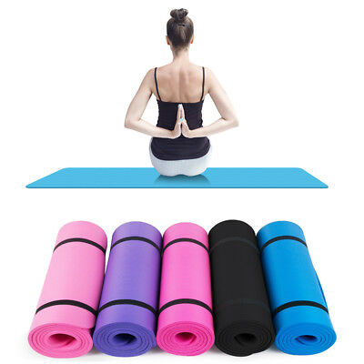 Thick 10mm Yoga Mat Exercise Pad Non-Slip Durable Gym Cushion Fitness Pilates