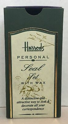 Harrods Personal Seal Set with Wax - boxed New never used - Letter M