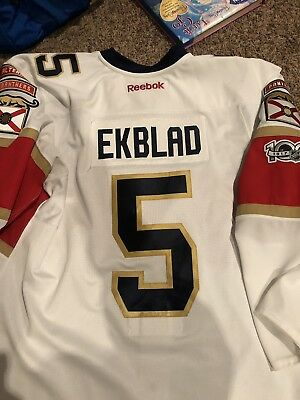 Authentic Reebok 2.0 MIC Florida Panthers Aaron Ekblad Team Issued Jersey