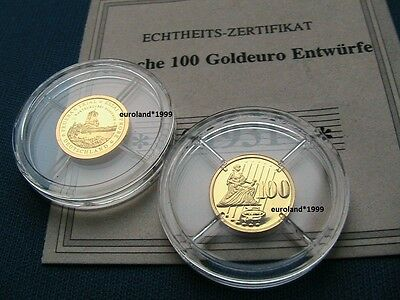 GOLD 585 - 100 GOLD EURO PROBE 2011 / PP PROOF / 0,5 g / 11 mm