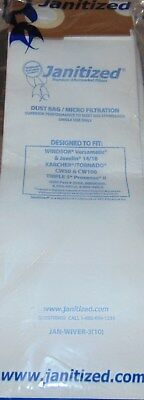 3 Janitized JAN-WIVER-3 Replacement Commercial Vacuum Paper Bags