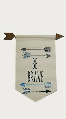 "Carter' s ""Be Brave"" Wall Decor Banner - Arrows Western Canvas Rare See Details"