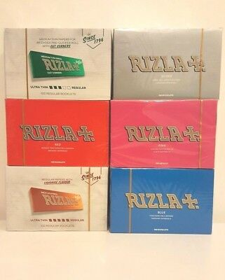 Rizla Rolling Papers Red / Green / Silver / Blue / Pink/ Liquorice 100 Booklets