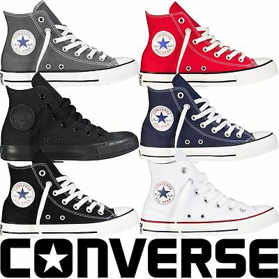 UK STOCK Classic Colour Unisex Chuck Taylor Mens Womens High Tops Trainers Pumps