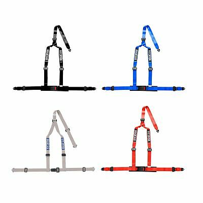 Sparco 3 Point ECE Approved Track Day / Oval Racing Driver Seat Harness - Blue
