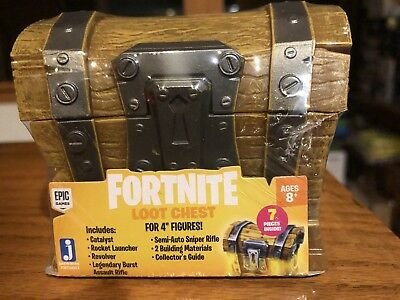 """Fortnite Loot Chest for 4"""" Figures New Free Shipping"""