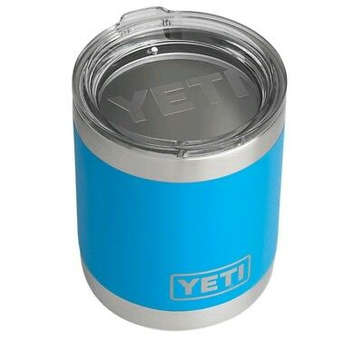 Yeti Stainless Steel Vacuum Insulated Rambler 10 Oz Lowball Tahoe Blue NIB (A1)
