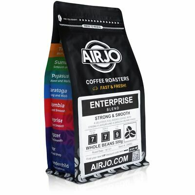 AIRJO Coffee Beans 1Kg - Fresh Roasted Every Day - 100% ORGANIC - Free Shipping