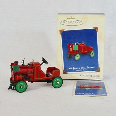 Hallmark Ornament Kiddie Pedal Car Die Cast 2002 1928 Jingle Bell Express Xmas