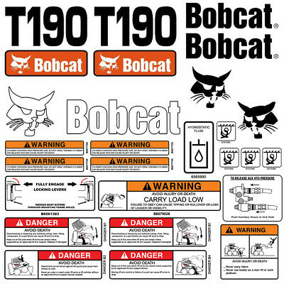 BOBCAT T190 TURBO Skid Steer Parts Manual Book 6901352 - $75 00