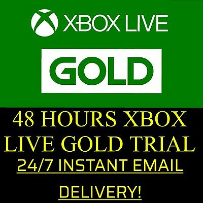 Xbox Live 48 Hour 2 Days Gold Trial Code 48Hr - Instant Email Delivery