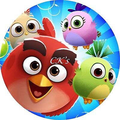 Angry Birds 7 Inch Edible Image Cake & Cupcake Toppers