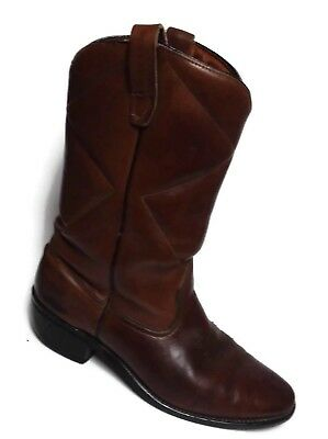 862f77a266e WOLVERINE THICK BROWN Leather Western Work Vibram Sole Boots - Men's ...