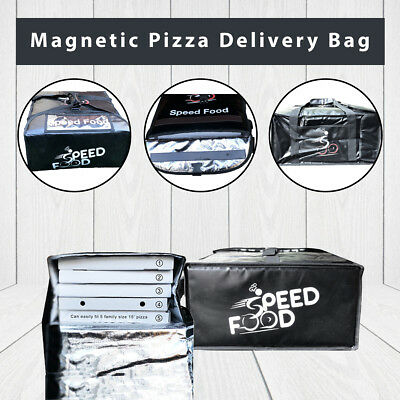 Magnetic Pizza Delivery Bag set of 5- Delivery Bag- Cheap Pizza Bag-Speed Food