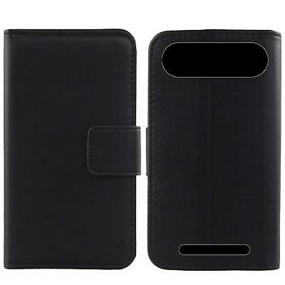 For Doro 8035 - Luxury Genuine Real Leather Flip Case Phone Wallet Cover Skin