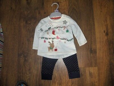 5dddb63e9aabd4 XMAS BABY Girl TOP& LEGGING SET TESCO BNWT AGE 3/6 MONTHS - £3.99 ...