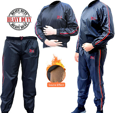 2FIT Sweat Sauna Suit Exercise Gym Fitness Jogging Track Suit Running Slimming