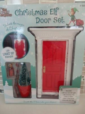 Fairy Kingdom Christmas,Elf Door Set with Accessories.With LED lights.NEW IN BOX
