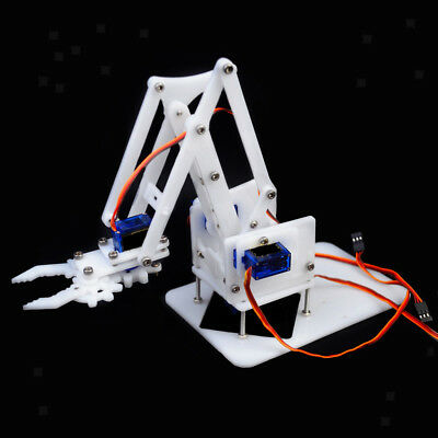 4DOF Mechanical Robot Arm Claw + Servos For Robotics Arduino DIY