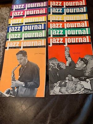 12 X JAZZ JOURNAL MAGAZINES VOL. 12 No. 1 (JAN) to No. 12 (DEC) 1959