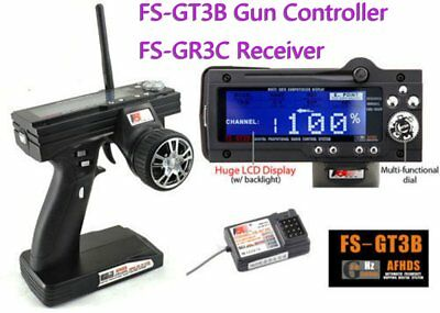 New FS-GT3B 2.4G 3CH Transmitter Receiver With Fail-Safe For RC car boat ES