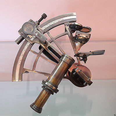 Nautical Sextant Brass Antique Vintage United Collectible Decor 8 inch