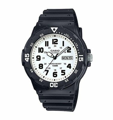 MRW-200H-7B Casio Men's black Rubber Strap Day Date 100M Analog Sports Watch