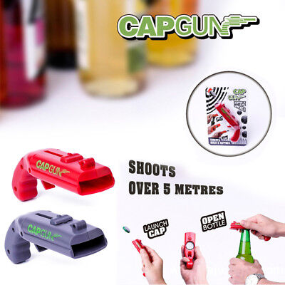 2019 NEW Firing Cap Gun Creative Useful Bottle Opener  Gift Fun Party Toy UK