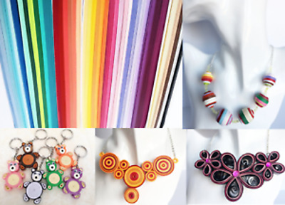 5mm Quilling Paper ~ 120 strips 530mm RED PURPLE ORANGE YELLOW PINK GREEN BROWN