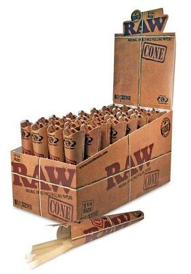 "Raw Papers 1 1/4"" 1.25 Classic Unbleached Hemp Cones 2 Packs -12 Cones Total"