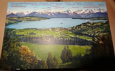 alte AK Karte 1931 Starnberg am See Postkarte Panorama Starnberger Lithographie