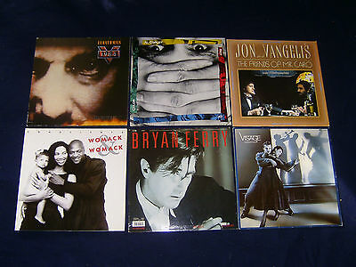 6 mal EURYTHMICS AL CORLEY JON AND VANGELIS WOMACK BRYAN FERRY VISAGE Vinyl LP