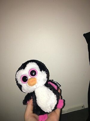 4752b3d399f TY Beanie Boos Paddles The Penguin New with tag Black and white soft plush  teddy