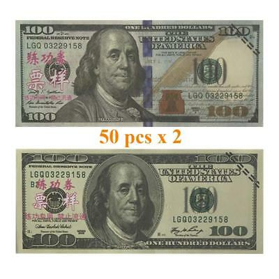 Play Prop Money 10,000 Dollar Full Print Double Sided Life Size Fake Replica